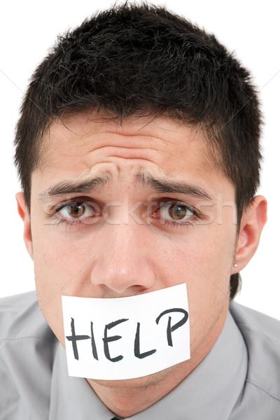 Foto stock: Homem · ajudar · jovem · empresário · banda