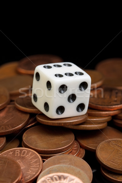 Dice and coins Stock photo © kalozzolak
