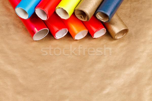 Papier christmas textuur achtergrond Stockfoto © kalozzolak