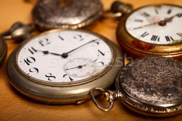 Closeup pocket watches Stock photo © kalozzolak