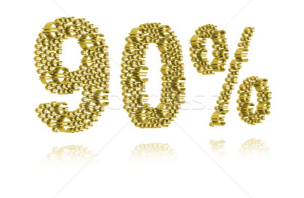 3D Illustration of ninety percent Stock photo © kalozzolak