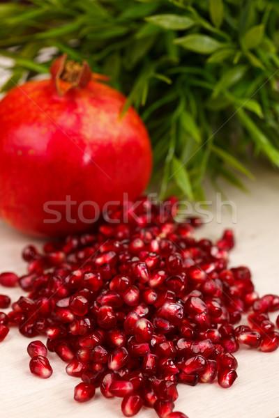 Heap of grenadine seeds Stock photo © kalozzolak