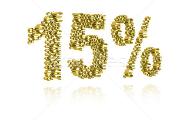 Ilustração 3d quinze por cento dinheiro assinar mercado Foto stock © kalozzolak