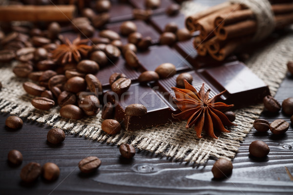 Stock fotó: Fűszer · csokoládé · csillag · ánizs · fahéj · kávé