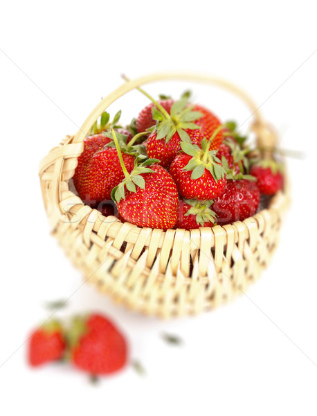 Strawberries in a basket Stock photo © kalozzolak