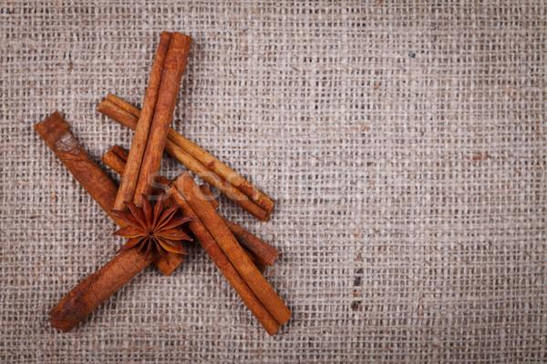 звездой анис украшение брезент корицей фон Сток-фото © kalozzolak