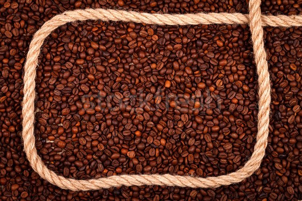 Coffee beans with cordage Stock photo © kalozzolak