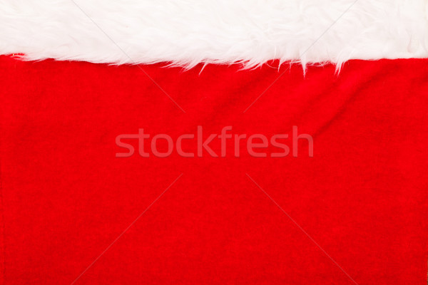 Red velvet background with white fluffy border Stock photo © kalozzolak