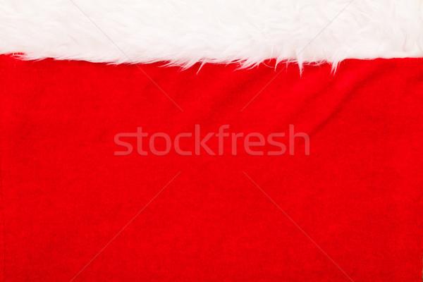Piros bársony fehér bolyhos keret fölött Stock fotó © kalozzolak