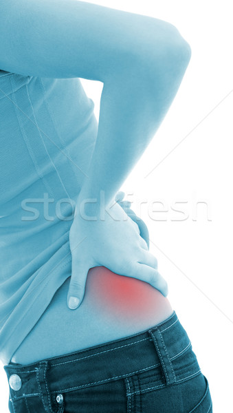 Back pain Stock photo © kalozzolak