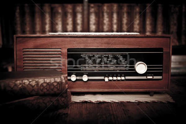 Old radio Stock photo © kalozzolak