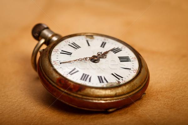 Reloj de bolsillo primer plano vista edad clásico retro Foto stock © kalozzolak