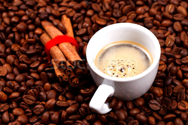 Coffe and cinnamon Stock photo © kalozzolak