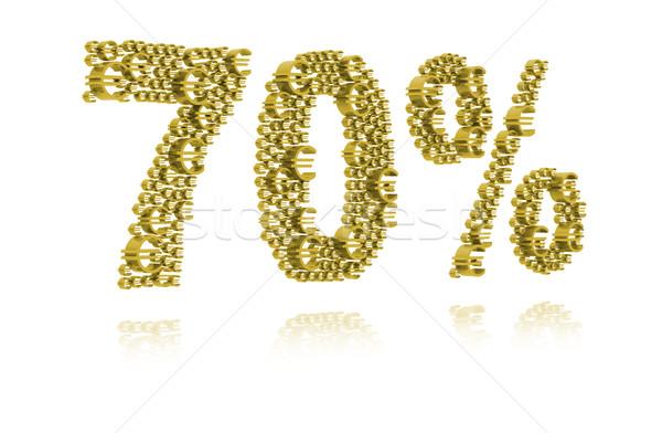3D Illustration of seventy percent Stock photo © kalozzolak