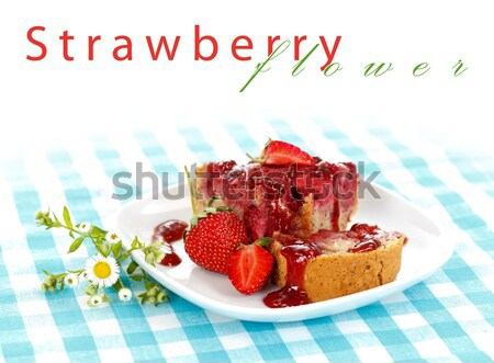 Strawberry cake Stock photo © kalozzolak