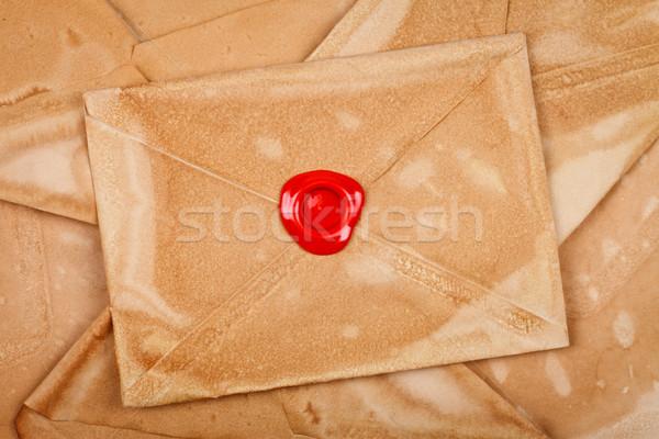 Envelope with sealing wax Stock photo © kalozzolak