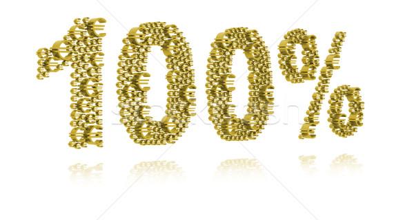 3D Illustration of one hundred percent Stock photo © kalozzolak