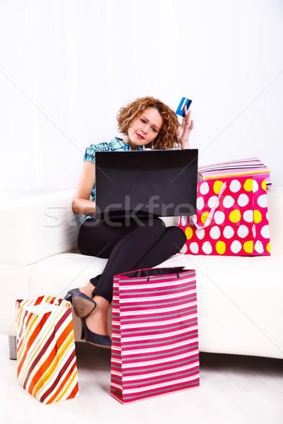 Stock photo: Shopping lady