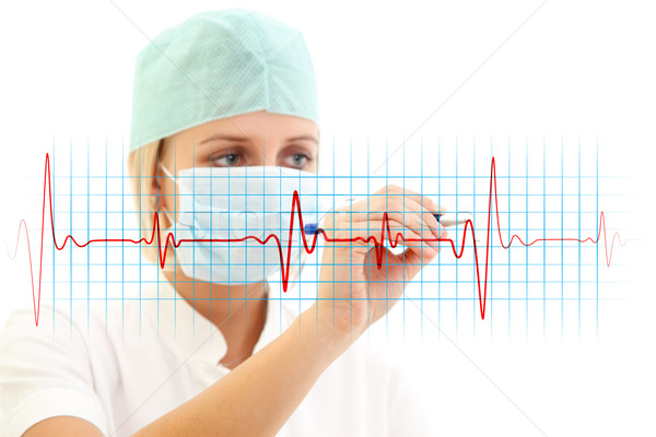 EKG Stock photo © kalozzolak