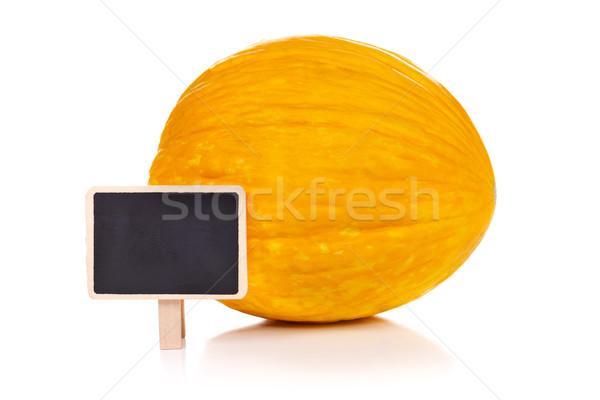 Amarelo melão lousa vazio pequeno saúde Foto stock © kalozzolak