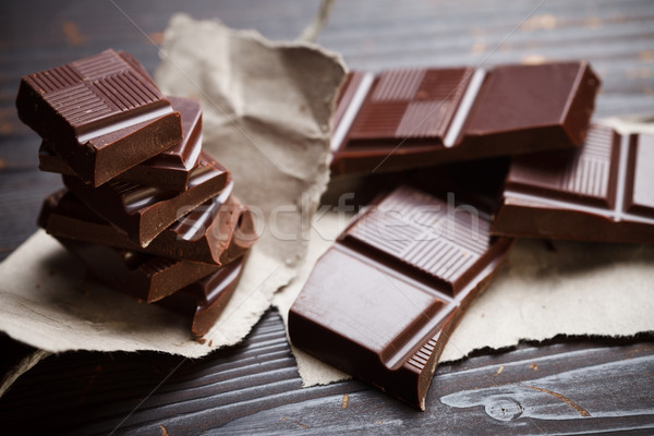 Chocolate with rustic paper Stock photo © kalozzolak