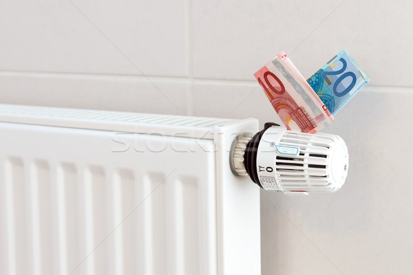 Stockfoto: Verwarming · thermostaat · euro · duur · energie · elektriciteit