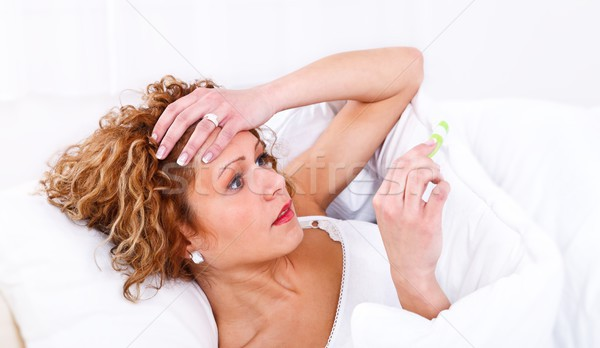 Stock photo: Sick young woman