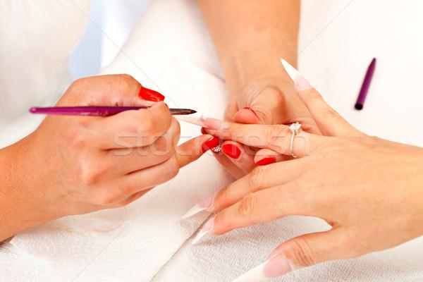 シャープ 人工的な 爪 適用 長い ストックフォト © kalozzolak