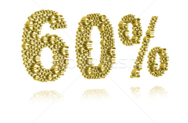 3d illustration zestig procent teken markt financiële Stockfoto © kalozzolak