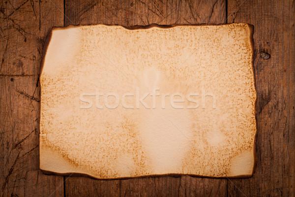 Burnt old paper Stock photo © kalozzolak