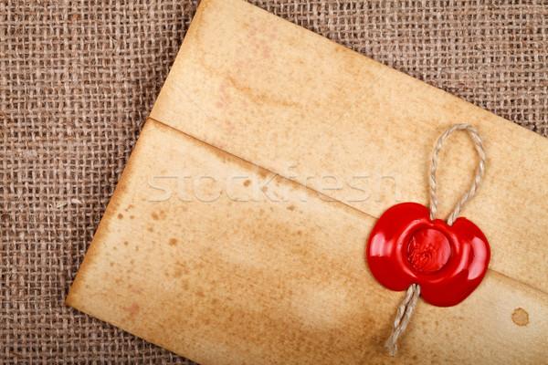 Old envelope with wax seal Stock photo © kalozzolak