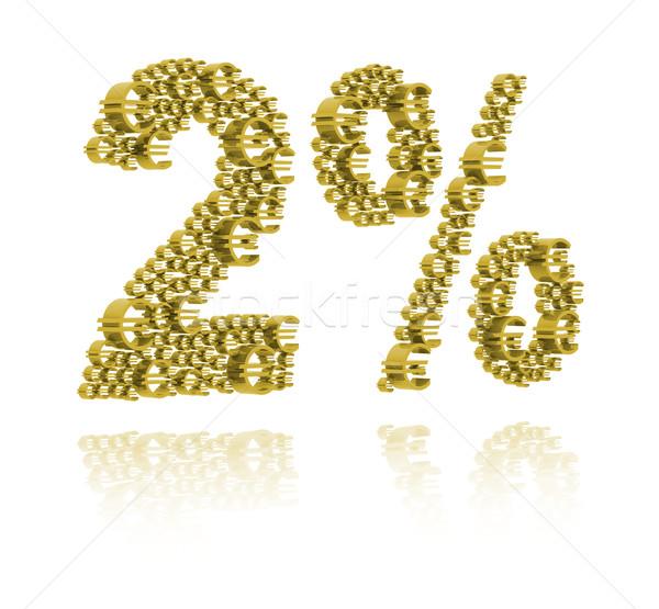 3D Illustration of  two percent Stock photo © kalozzolak