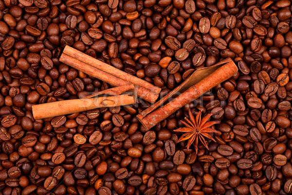 анис корицей кофе бобов звездой Сток-фото © kalozzolak