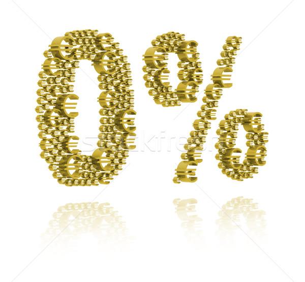 Ilustração 3d zero por cento mercado sucesso financeiro Foto stock © kalozzolak