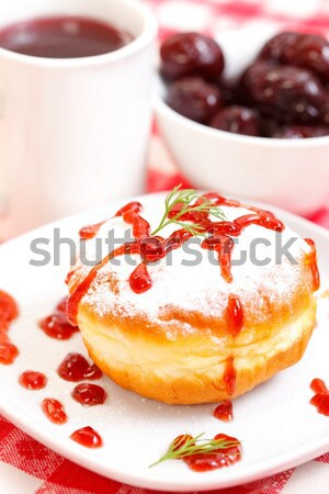 Donut with jam Stock photo © kalozzolak