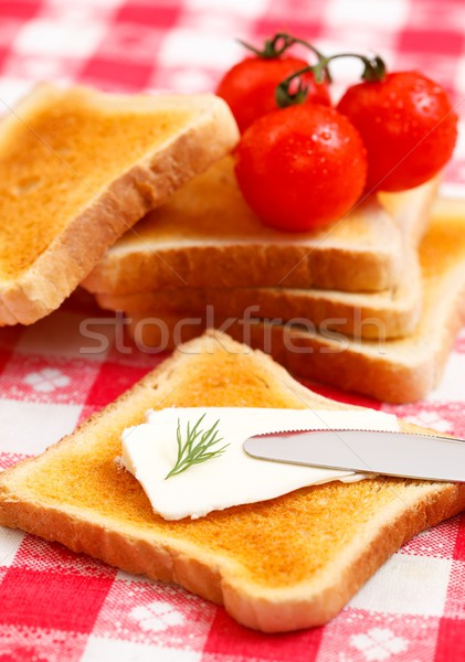Cream cheese toast Stock photo © kalozzolak