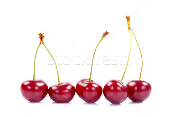 Five cherries Stock photo © kalozzolak