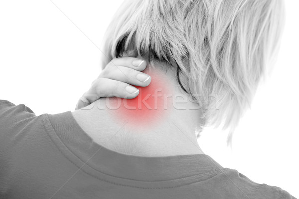Neck pain Stock photo © kalozzolak