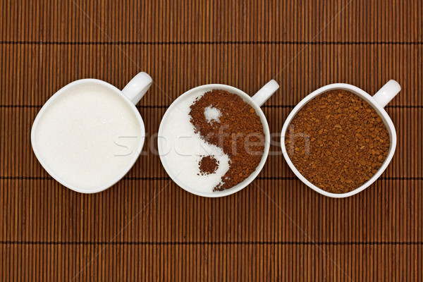 Stock photo: Yin Yang coffee