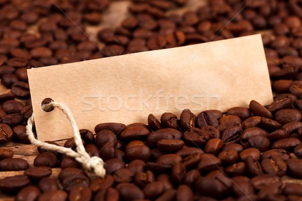 Vignette on coffee beans Stock photo © kalozzolak