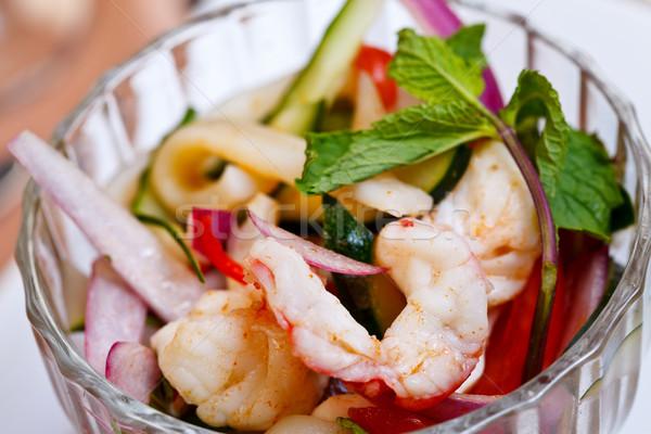 Asian appetizer - Yam talay Stock photo © kalozzolak