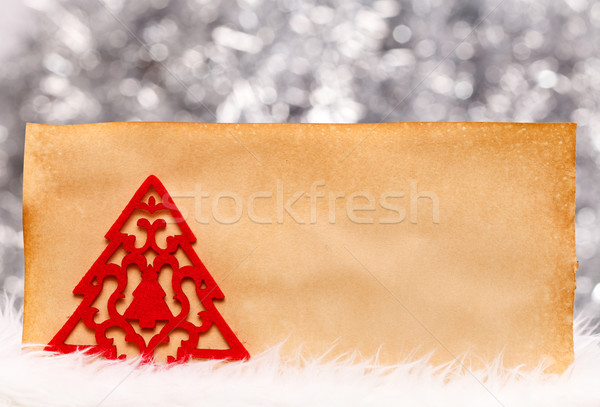 Fleece tree on old paper Stock photo © kalozzolak