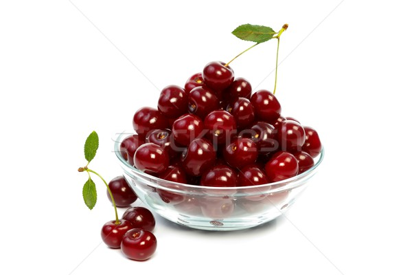 Sour cherries on the table Stock photo © kalozzolak