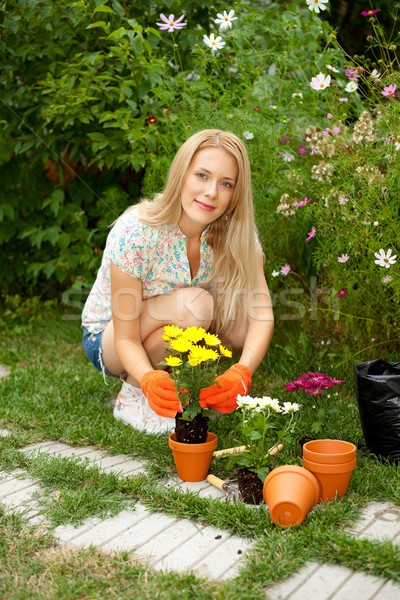 Young gardener Stock photo © kalozzolak