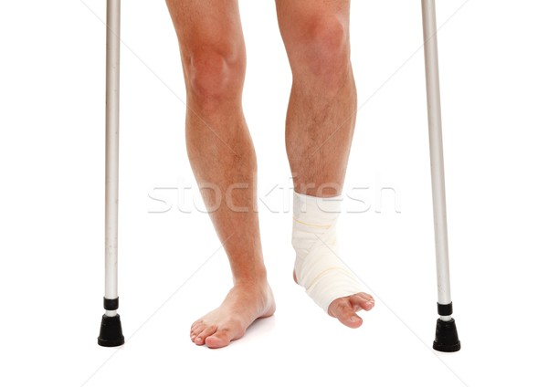 Injured leg Stock photo © kalozzolak