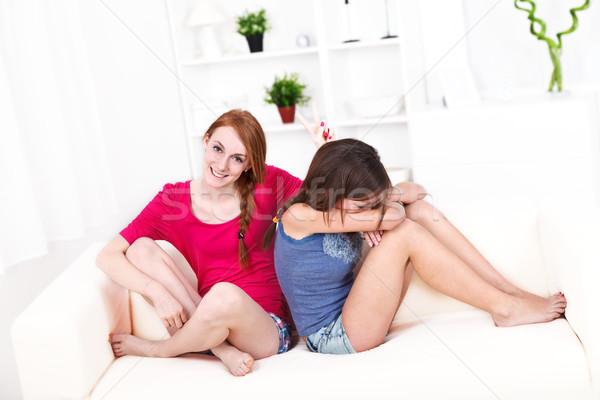 Girlfriends Stock photo © kalozzolak
