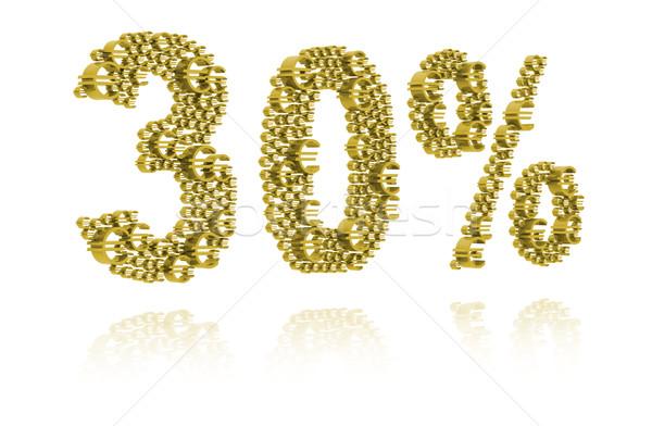 3d illustration trente pour cent marché succès financière Photo stock © kalozzolak