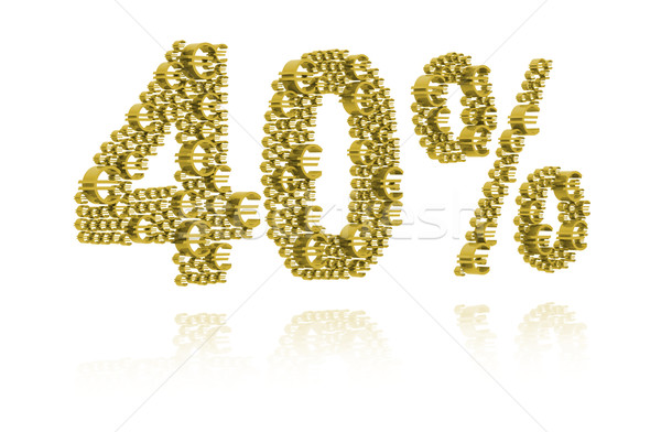 3D Illustration of forty percent Stock photo © kalozzolak