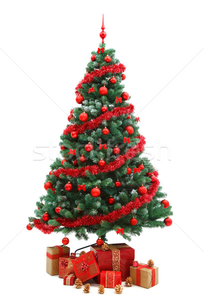 Christmas tree with gifts Stock photo © kalozzolak
