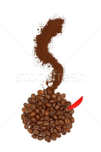доброе утро кофе форма Кубок кофе Сток-фото © kalozzolak